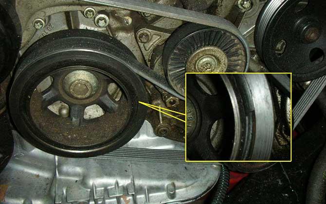 Неисправен шкив коленвал М113а
